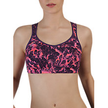 Buy Shock Absorber Active Multi Sports Support Bra, Purple/Pink Print Online at johnlewis.com
