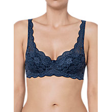 Buy Triumph Amourette 300 Padded Balcony Bra, Navy Online at johnlewis.com