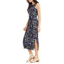 Buy Oasis Topaz Bird Print Midi Dress, Navy Online at johnlewis.com