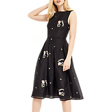 Buy Oasis Summer Bloom Embroidered Dress, Multi/Black Online at johnlewis.com