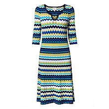 Buy East Zig Zag Print Flared Dress, Multi Online at johnlewis.com