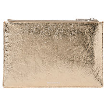 Buy Whistles Metallic Leather Small Clutch Bag Online at johnlewis.com
