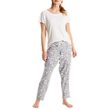 Buy White Stuff Elisa Pyjama Bottoms, Sea Shell Online at johnlewis.com