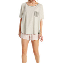 Buy White Stuff Camille Stripe Oversized T-Shirt, Grey Online at johnlewis.com