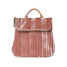 Buy Whistles Mini Verity Velvet Backpack, Pale Pink Online at johnlewis.com