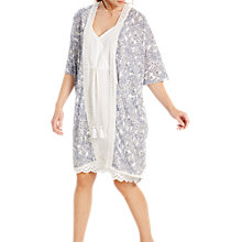 Buy White Stuff Amelie Fern Print Robe, Sea Shell Online at johnlewis.com