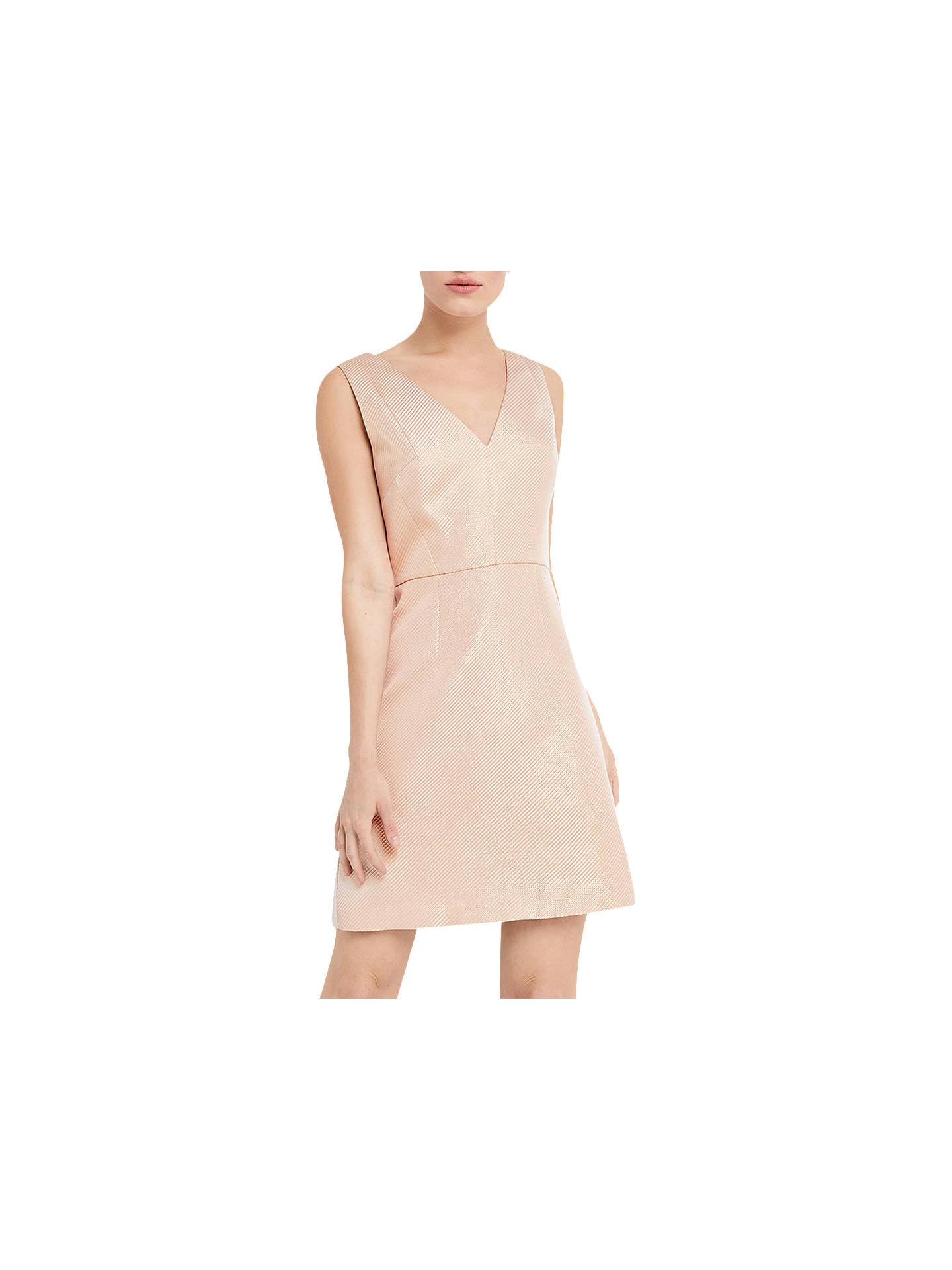 2a1fe4e8ee20 Buy Oasis Metallic Skater Dress, Gold, 8 Online at johnlewis.com ...