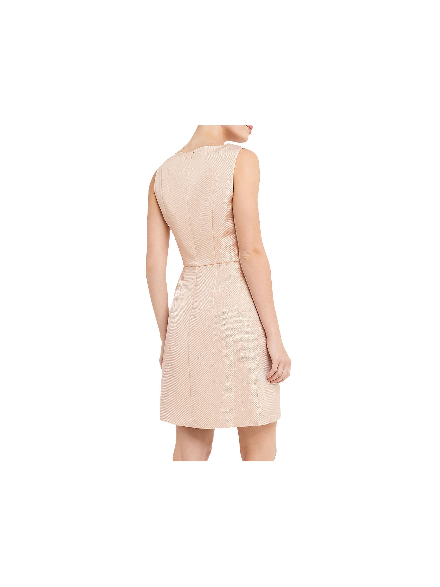 84047b6bd26d ... Buy Oasis Metallic Skater Dress, Gold, 8 Online at johnlewis.com ...