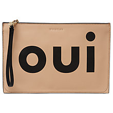 Buy Whistles Oui Clutch Bag, Multi/Black Online at johnlewis.com