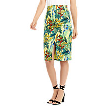 Buy Oasis Tropical Cuba Pencil Skirt, Multi Online at johnlewis.com