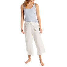 Buy White Stuff Cecile Cutwork Cropped Pyjama Bottoms, Sea Shell Online at johnlewis.com