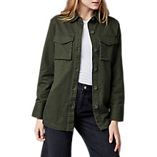 Buy Warehouse Button Pocket Shacket, Khaki Online at johnlewis.com