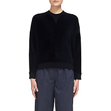 Buy Whistles Cropped Velour Sweatshirt Online at johnlewis.com