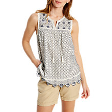 Buy White Stuff Mimicking Embroidered Vest Top Online at johnlewis.com