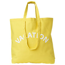 Buy Whistles Vacation Canvas Tote Bag, Yellow Online at johnlewis.com