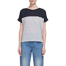 Buy Whistles Breton Stripe Linen T-Shirt, Multi Online at johnlewis.com