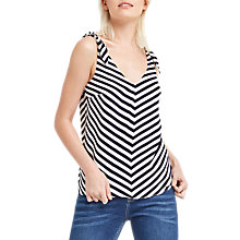 Buy Oasis Stripe Tie Detail Vest, Multi Online at johnlewis.com