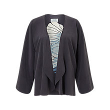 Buy Jigsaw Floating Poppy Silk Kimono Jacket, Midnight Grey Online at johnlewis.com