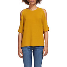 Buy Whistles Split Shoulder Fine Cotton T-Shirt Online at johnlewis.com
