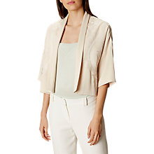 Buy Karen Millen Oriental Embroidered Jacket, Neutral Online at johnlewis.com