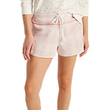 Buy White Stuff Selina Check Summer Lounge Shorts, Pink Online at johnlewis.com