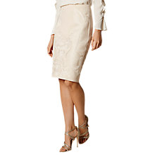 Buy Karen Millen Oriental Embroidery Skirt, Neutral Online at johnlewis.com