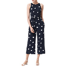 Buy L.K. Bennett Ella Spot Print Silk Jumpsuit, Navy/White Online at johnlewis.com