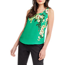 Buy Oasis Tropical Botanical Print Vest, Green/Multi Online at johnlewis.com
