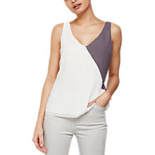 Buy Mint Velvet Block Colour Top, Ivory/Smoke Online at johnlewis.com
