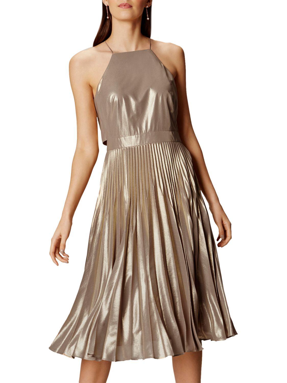 Karen millen black gold dress