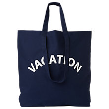 Buy Whistles Vacation Cotton Canvas Tote Bag, Navy Online at johnlewis.com