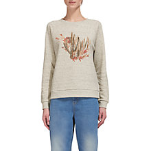 Buy Whistles Cactus Print Sweatshirt, Grey Marl Online at johnlewis.com