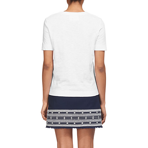 Buy Whistles Rosa Double Trim T-Shirt, White Online at johnlewis.com