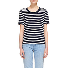 Buy Whistles Rosa Double Trim Stripe T-Shirt, Multi Online at johnlewis.com