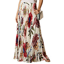 Buy Karen Millen Botanical Bloom Maxi Skirt, Multi Online at johnlewis.com