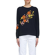 Buy Whistles Tangerine Dream Sweatshirt, Navy Online at johnlewis.com