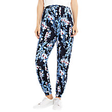 Buy Oasis Tropical Botanical Print Trousers, Blue/Multi Online at johnlewis.com