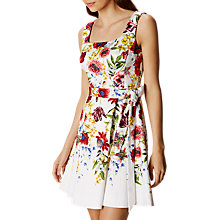 Buy Karen Millen Botanical Bloom Dress, White/Multi Online at johnlewis.com