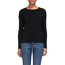 Buy Whistles Twist Back Crew Neck Jumper, Black Online at johnlewis.com