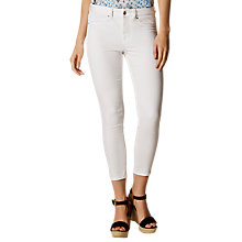 Buy Karen Millen Denim Collection Jeans, White Online at johnlewis.com