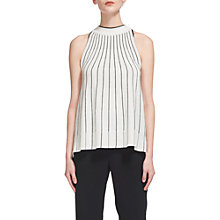 Buy Whistles Trapeze Knit Vest, Black Online at johnlewis.com