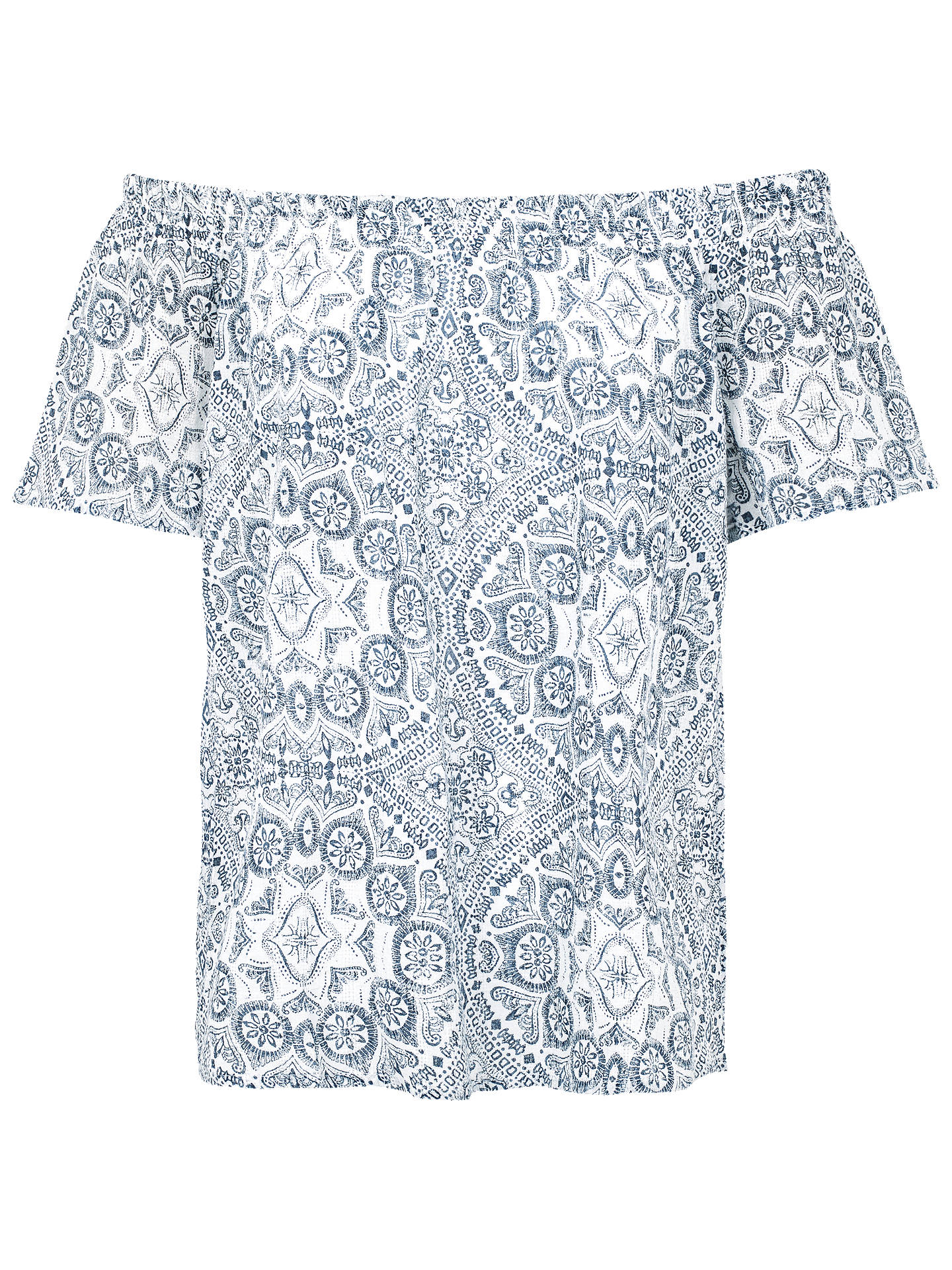 69d60ea2e7d117 Buy Fat Face Ellen Linear Batik Print Blouse, White/Multi, 6 Online at ...