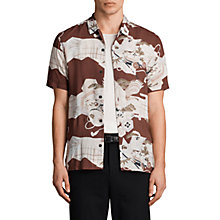 Buy AllSaints Oloku Short Sleeve Shirt, Oxblood Red Online at johnlewis.com