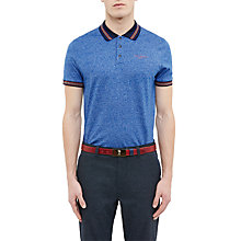 Buy Ted Baker Golf Collection Moulie Polo Shirt, Bright Blue Online at johnlewis.com