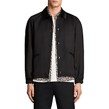 Buy AllSaints Jonze Coach Jacket, Black Online at johnlewis.com