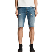 Buy AllSaints Ipava Switch Shorts, Indigo Blue Online at johnlewis.com