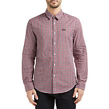 Buy BOSS Green C-Buster Vichy Check Regular Fit Shirt, Dark Red Online at johnlewis.com