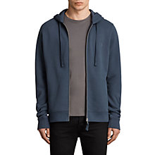 Buy AllSaints Raven Hoodie, Washed Navy Online at johnlewis.com