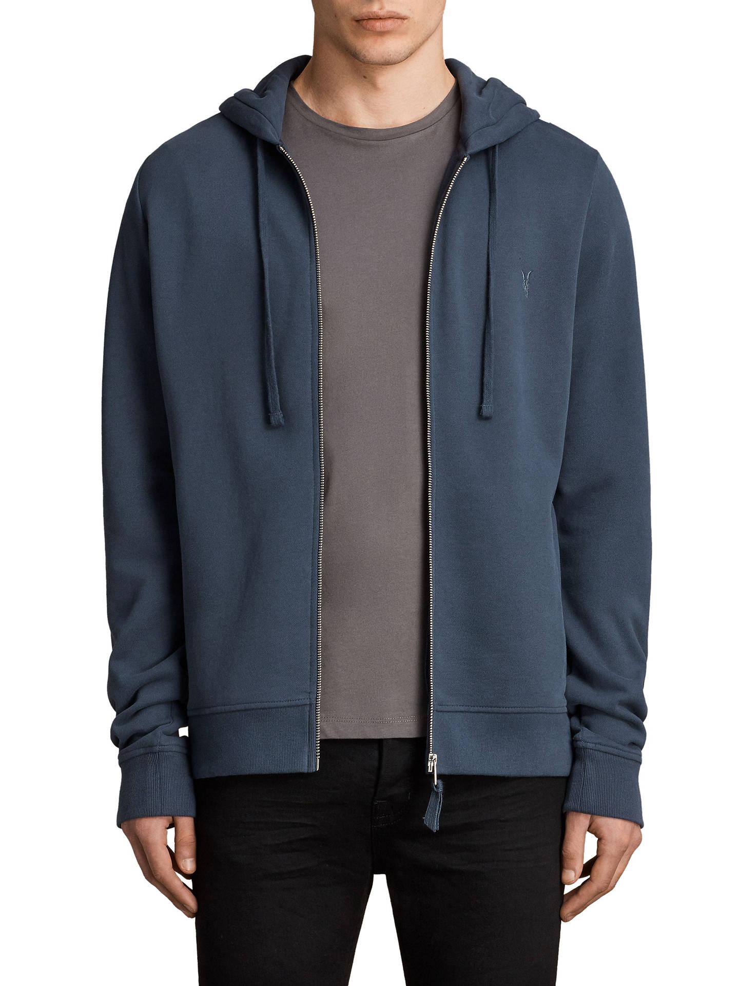 Adidas Premium Essentials Hoodie, Blue at John Lewis & Partners