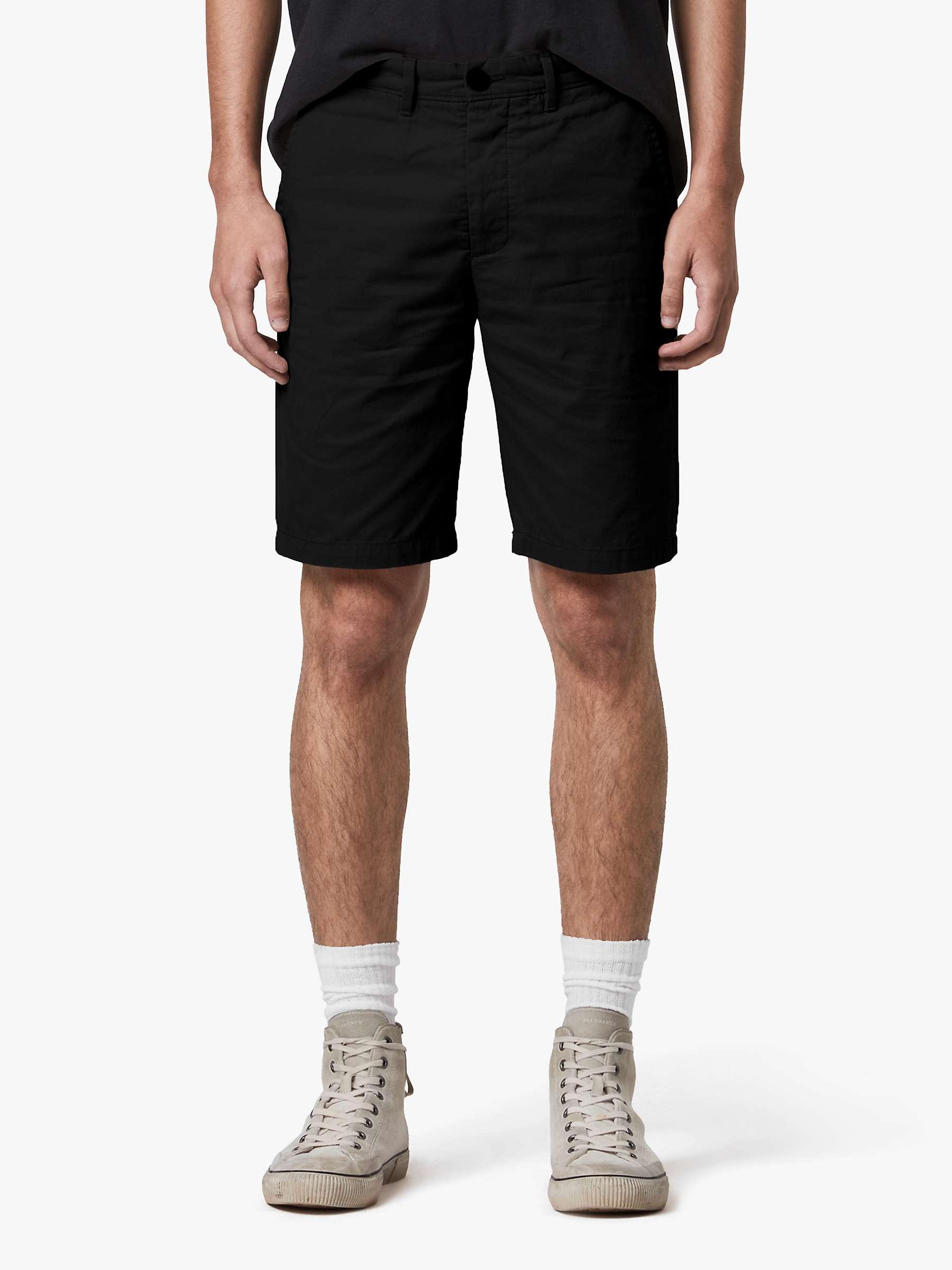 AllSaints Cobalt Chino Shorts, Black